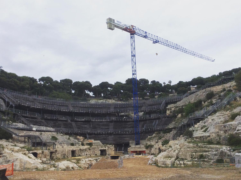 Anfiteatro Romano di Cagliari – gru a torre Raimondi mod. GRT 52
