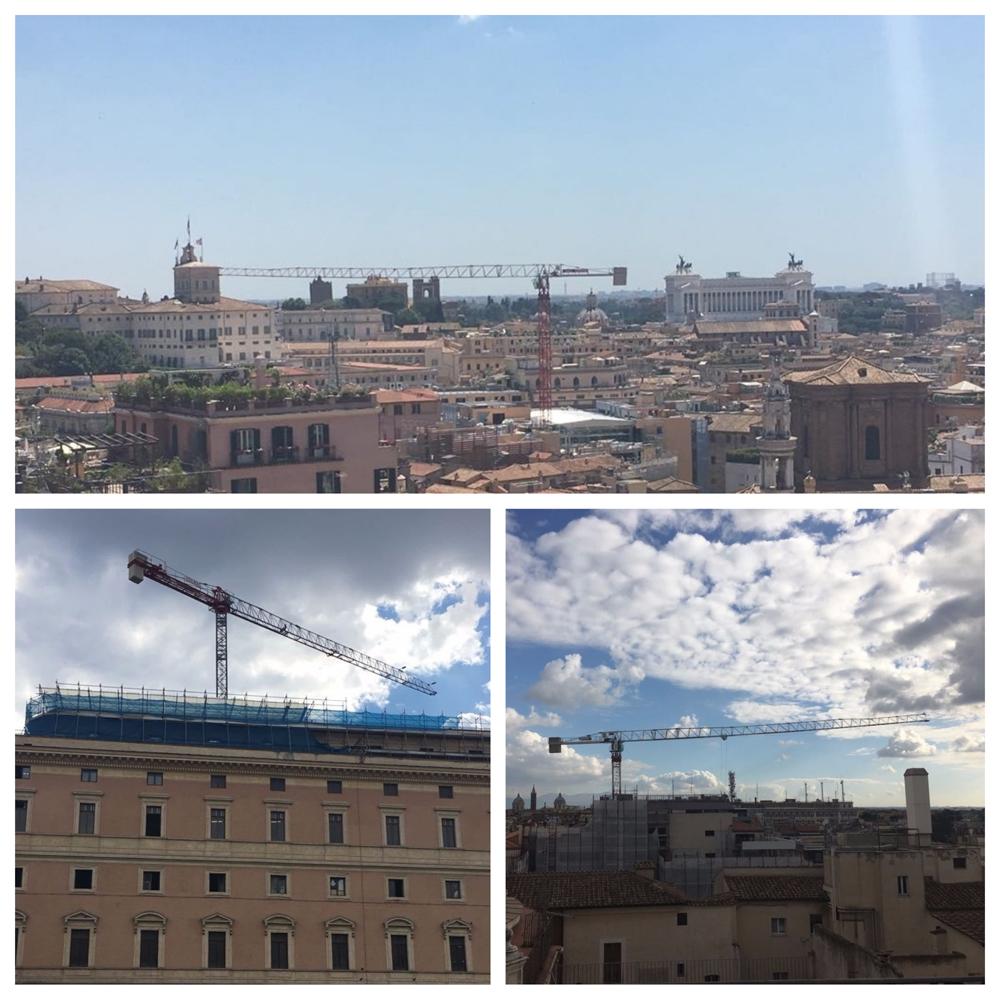 Allianz in Piazza San Silvestro – Roma – Gru a torre Saez mod. TL 55